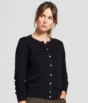 Women's Casual Fit Long Sleeve Crewneck Button-Down Any Day Cardigan - A New Day™