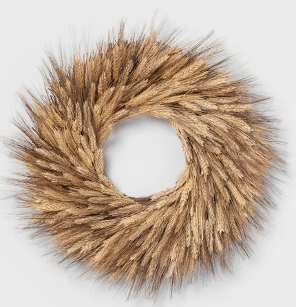 "21.2"" Dried Wheat Wreath Natural - Smith & Hawken™"