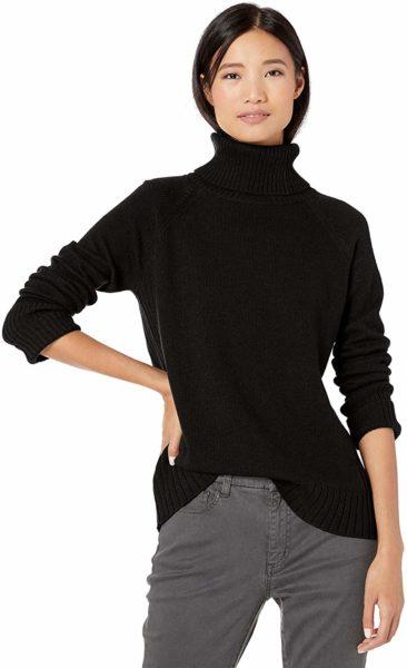 Amazon Brand - Goodthreads Women's Wool Blend Jersey Stitch Turtleneck Sweater
