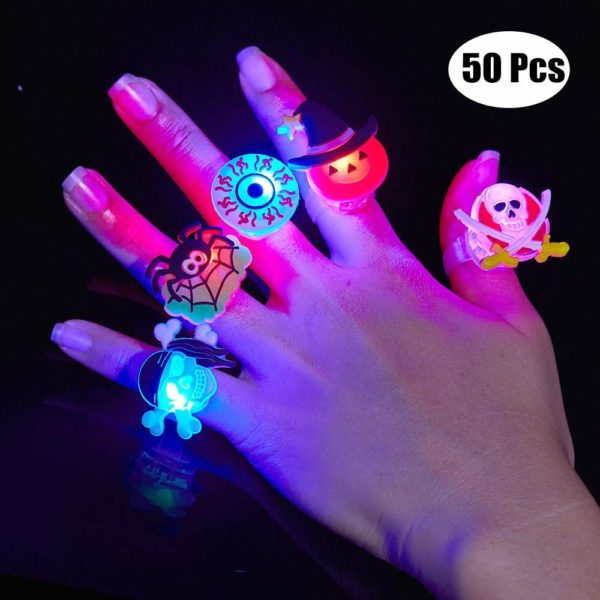 50 Piece Bag Filler Halloween Rings
