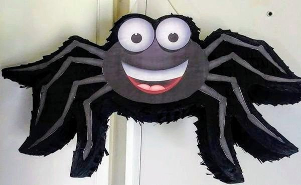 "Black Spider Pinata 14""X24"""