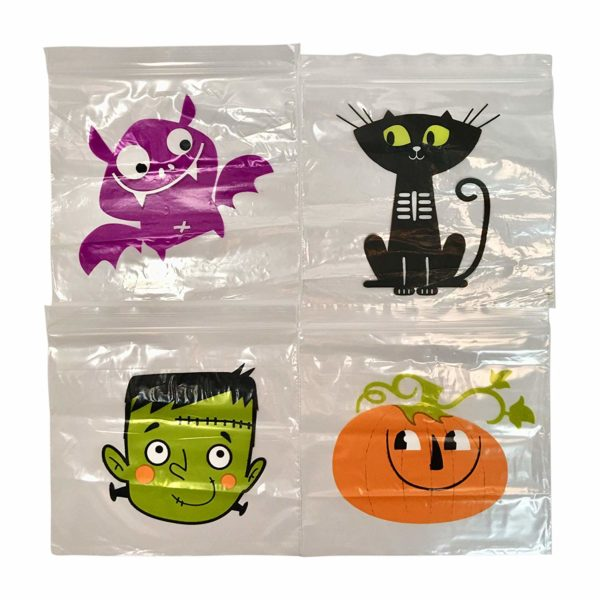 Halloween Sandwich, Snack or Candy Bags With 4 Spooky Designs