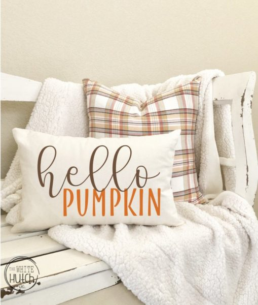 Hello Pumpkin Pillow Cover
