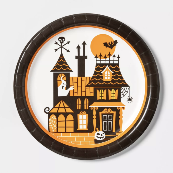"10ct 9"" Haunted House Halloween Plate Dinner Plate - Hyde & EEK! Boutique™"