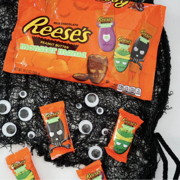 Reese's Peanut Butter Cup Halloween Monsters Mania Snack Size - 10.2oz
