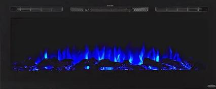 Touchstone 50.4-in W Black Fan-forced Electric Fireplace
