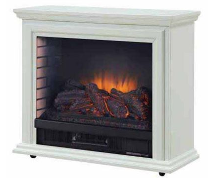 Pleasant Hearth GLF-5002-50 Sheridan Mobile Fireplace - White