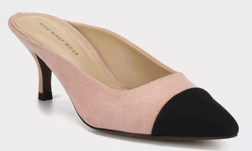 Women's Alana Toe Cap Kitten Heeled Pumps - Who What Wear™ Blush