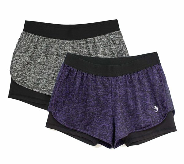 2 Pack icyzone Running Yoga Shorts for Women
