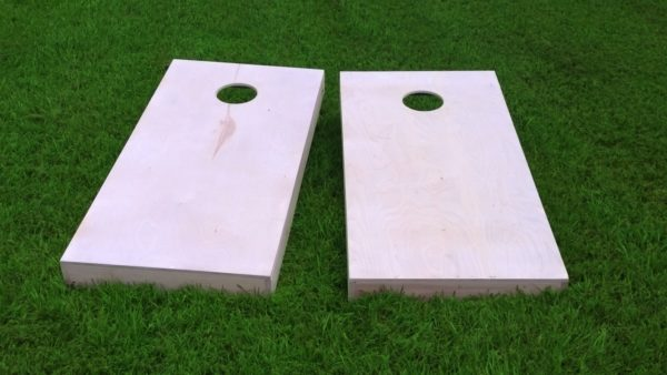 Non-Painted DIY 1x4 Cornhole Board Set With Corn Filled Cornhole Bags