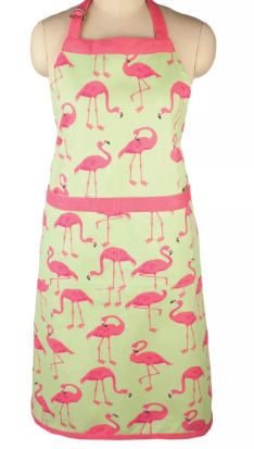 Cooking Apron Flock of Flamingos Print - Mu Kitchen