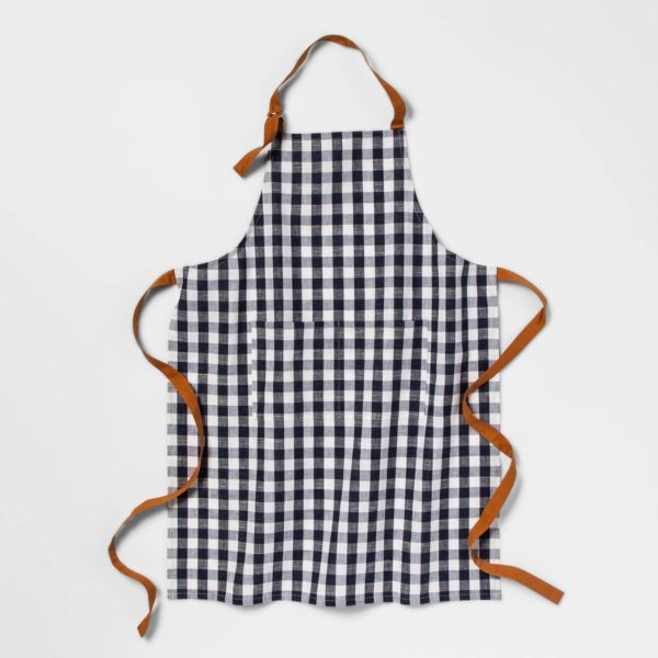 Check Apron Blue - Threshold