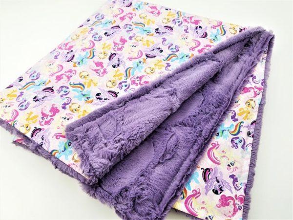 Personalized My Little Pony Minky Baby Blanket
