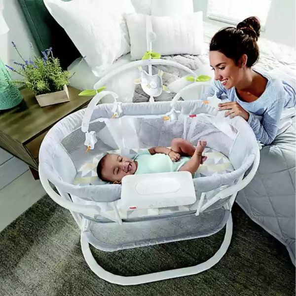 Fisher-Price® Smart Connect™ Soothing Motions™ Bassinet in Grey