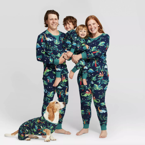 Holiday Festive Dinosaur Pajamas