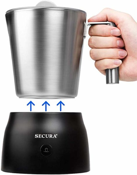 Secura 4 in 1 Electric Automatic Milk Frother and Hot Chocolate Maker