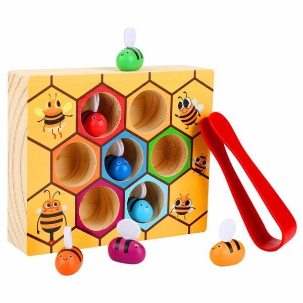 Kunmark Toddler Bee Hive Preschool Wooden Toy