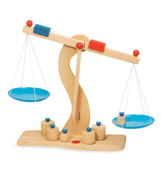 Wooden Toy Grocery Scales