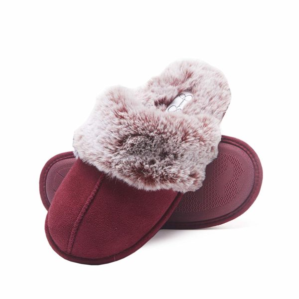 Comfy Faux Fur Womens House Slipper