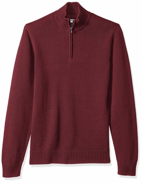 Goodthreads Men's Soft Cotton Quarter Zip Sweater