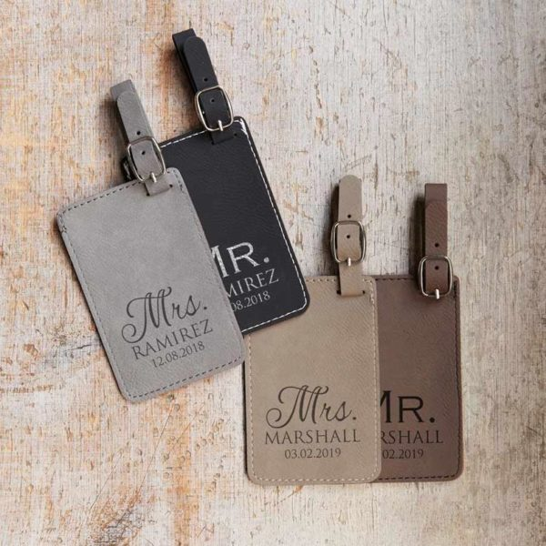 Personalized Mr and Mrs Luggage Tags
