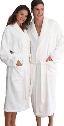 Linum Home Textiles Turkish Cotton Terry Unisex Bathrobe in White