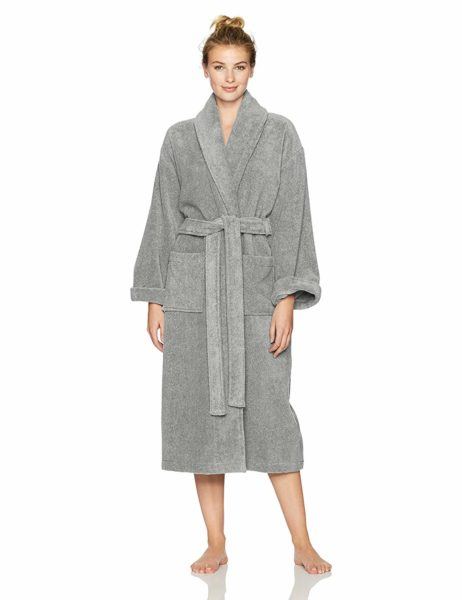 Pinzon Platinum Terry Bathrobe