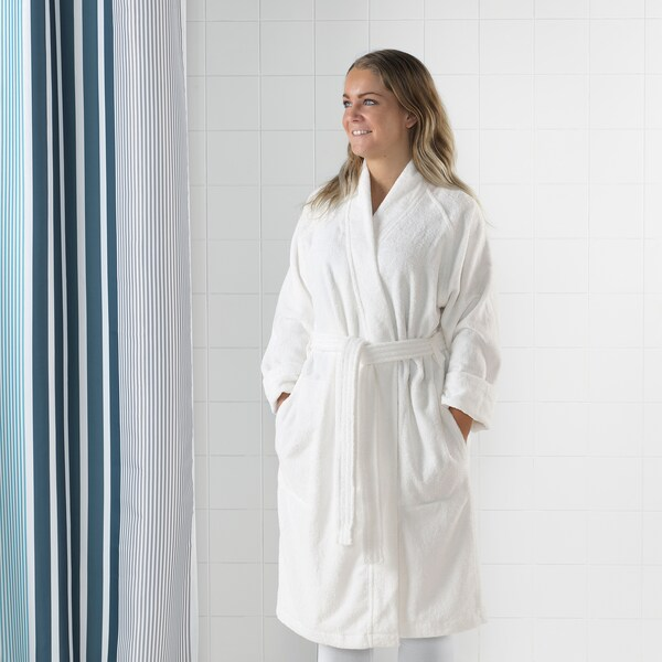 ROCKÅN Bathrobe, white