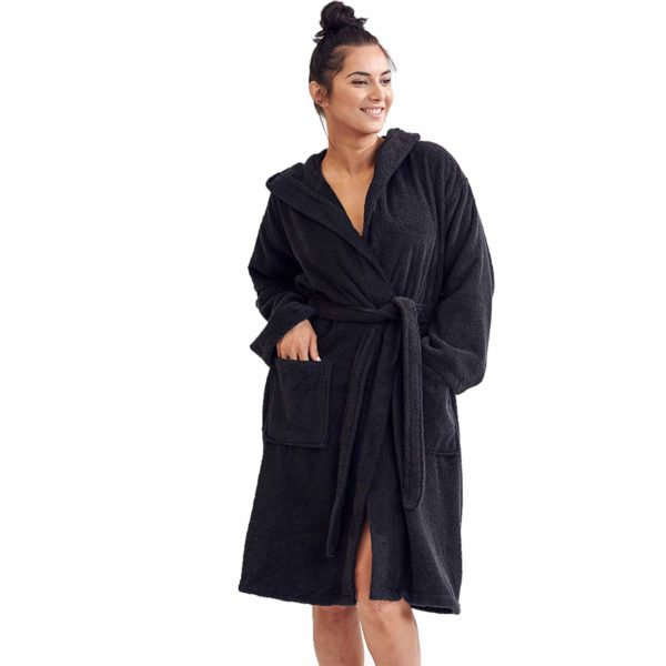 Terry Hooded Bathrobe