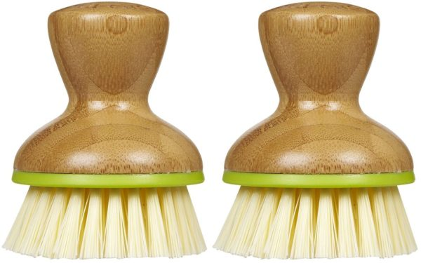 Full Circle Bubble Up Replacement Dish Brush, Green, 2pk