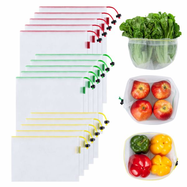 Ecowaare Set of 15 Reusable Mesh Produce Bags