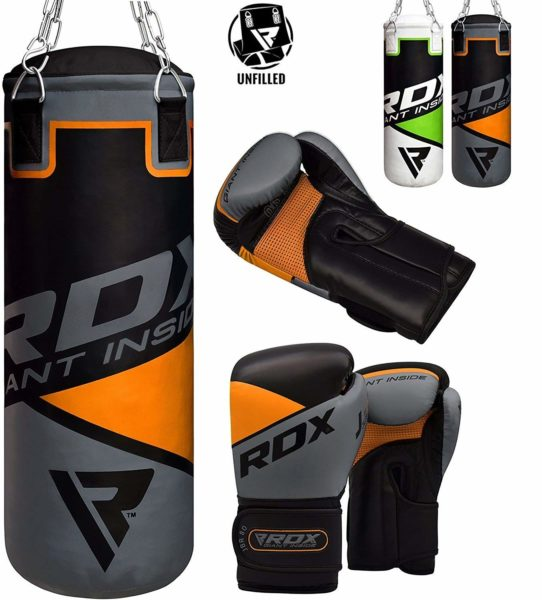 RDX Kids Punch Bag UNFILLED Set Junior Kick Boxing