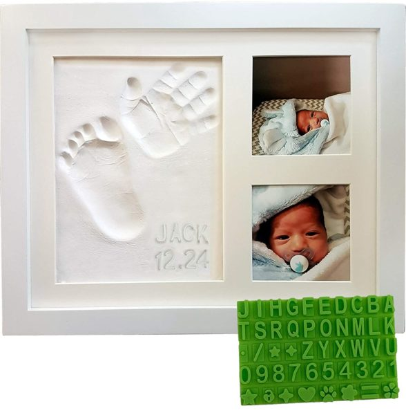Baby Handprint & Footprint Keepsake Photo Frame Kit