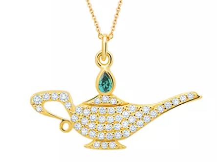 Genie Lamp Pavé Necklace by CRISLU – Aladdin