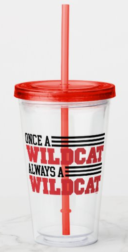 Once a Wildcat Always a Wildcat Acrylic Tumbler