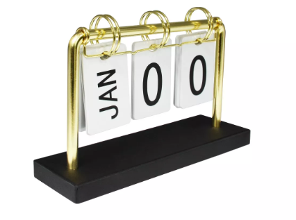Desk Calendar Gold - Threshold™