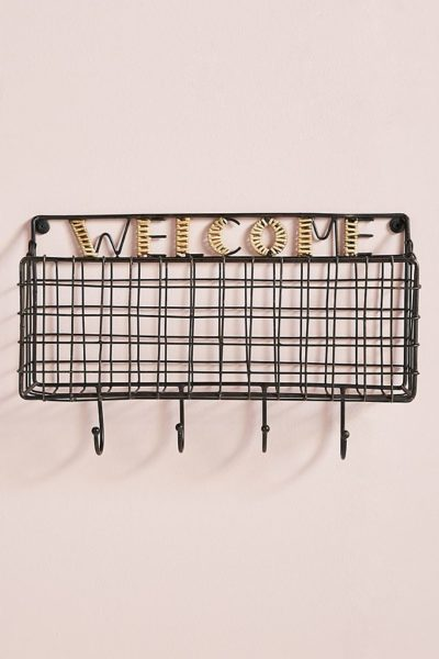 Welcome Basket Hook Rack