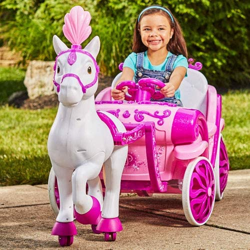 Ride-On Disney Princess Royal Horse Carriage