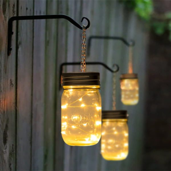 Hanging Solar Mason Jar Lid Lights