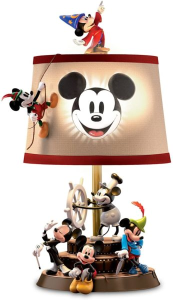 Bradford Exchange Disney Mickey Mouse Through The Years Sculptural Table Lamp