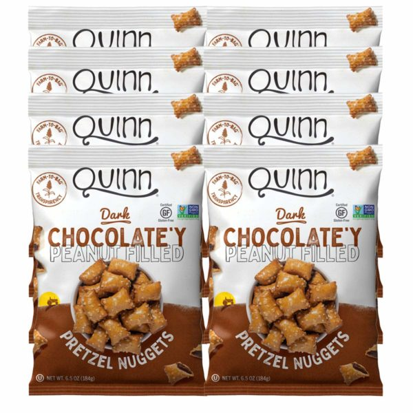Quinn Snacks Pretzels Dark Chocolate'y Peanut Filled