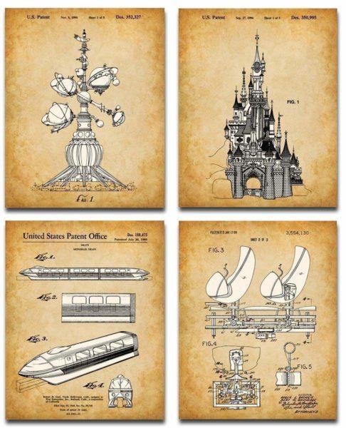 Original Disney Rides Patent Art Prints