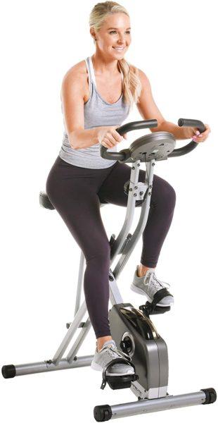 Exerpeutic Folding Magnetic Exercise Bike