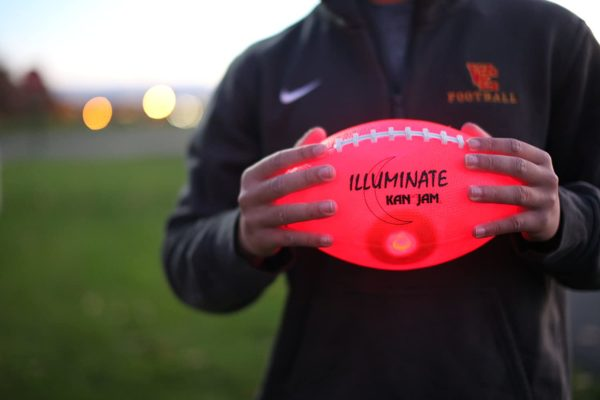 Kan Jam Illuminate Ultra-Bright LED Light-Up Glow Football