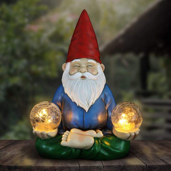 Solar Yoga Garden Gnome