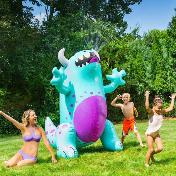BigMouth Inc. Ginormous Inflatable Cute Monster Yard Summer Sprinkler