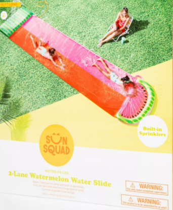 Watermelon Aqua Ramp Double Water Slide - Sun Squad™