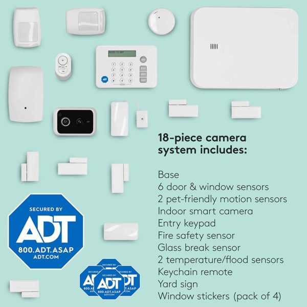 ADT DIY 18-Piece Easy, Smart Home Security System