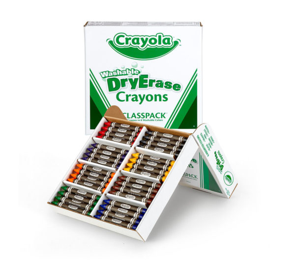 Bulk Dry Erase Washable Crayons, 96 Count, 8 Colors