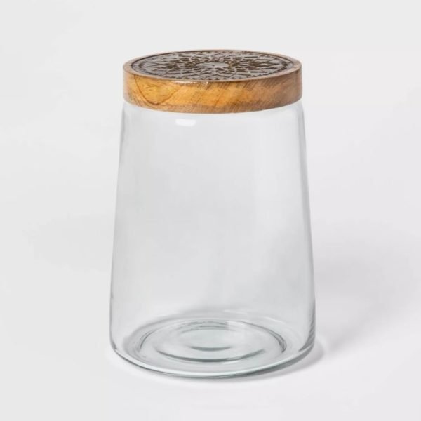 Cravings by Chrissy Teigen Glass Storage Container with Wood Lid